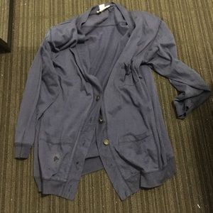 Sweaters - Navy cardigan